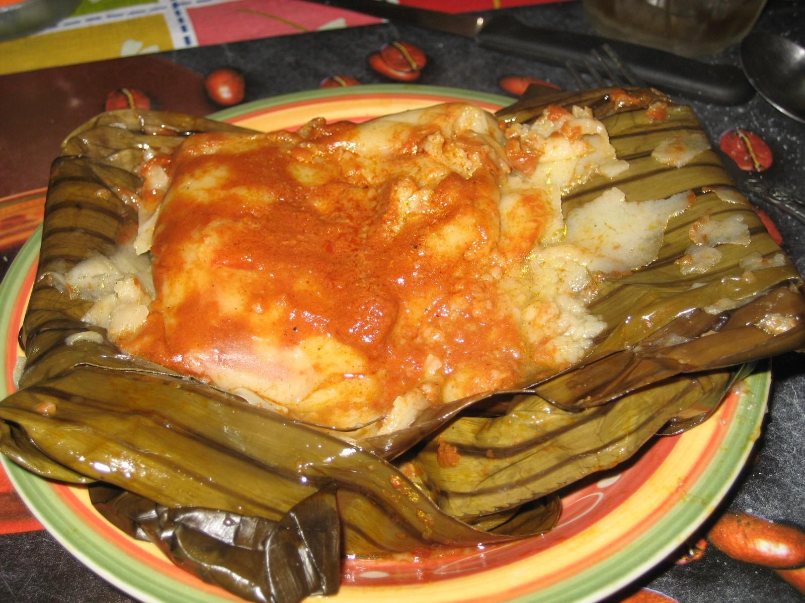 Traditional Guatemalan Tamale