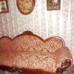 The couch where the father was found dead!