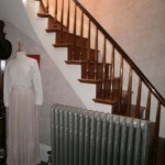 Stairway & style of dress used back then