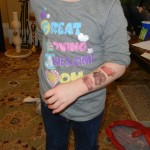 This is Maddy (Williams niece) sporting her Cars tats! Woohoo!