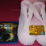 Fuzzy Pink Slippers, $50 gift card, Full Metal Jacket Blu Ray