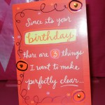Romantic Birthday Card, I love it!