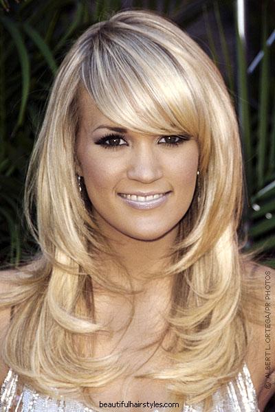 Medium Long Layered Hairstyles with Bangs