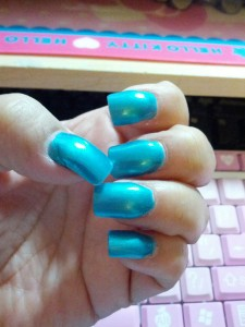 Color is: Teal or No Teal by Wet n' Wild Fast Dry