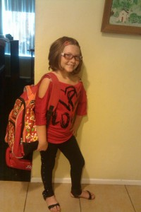 Lizzy First day of 4th grade 2012