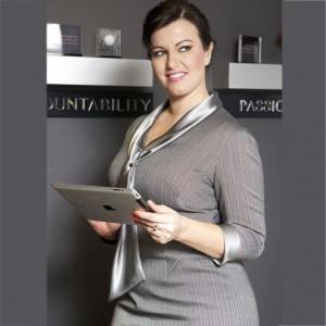 Plus Size Grey Herringbone Work Dress by Dea London