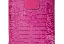 Leather iPad Case in Executive Hot Pink