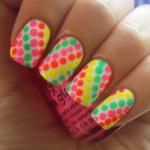 Summer Neon Polka Dots