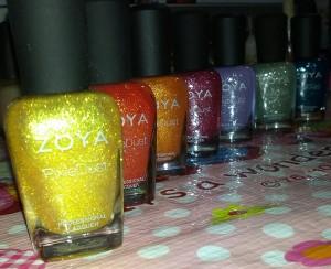Zoya Pixiedust Polishes