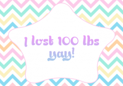 Hit my 100 lbs milestone, yay!