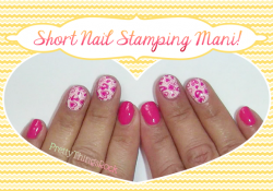 Short Nails Mani ~ Beginner Stamping