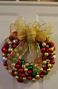 Dollar Tree Ornament Wreath