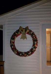 Christmas Wreath outside