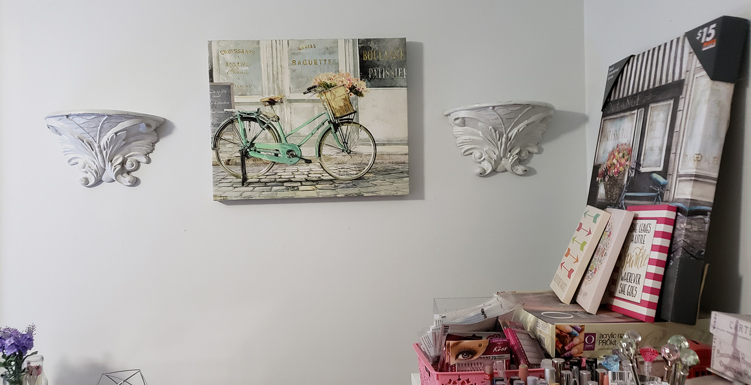 Bicycle and Shelves